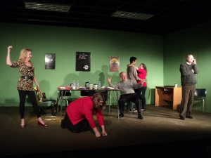 The cast of 'Don't Talk to the Actors.'  Photo: CNY Playhouse
