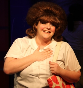 Krystal Scott playing the plum heroine Tracy Turnblad. Photo: Tim Brown