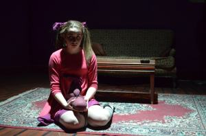 """Hannah Daly plays """"Lucy"""" a 4-year-old with a dark imagination in 'Mr. Marmalade.'Photo: Rebecca Gazaille"""