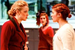 Mary Ann Pianka (as Marlene), Jenna Fields (as Angie) and Chessie Santoro (as Mrs. Kidd) in 'Top Girls.'Photo: Michael Davis