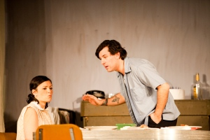 Jordan Glaski (Stanley) and Sara Caliva (Stella) in CNYP's A Streetcar Named Desire. Photo Amelia Beamish.