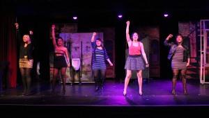 The dancing ladies in ' The Full Monty.' Photo: Jessie Dobrzynski