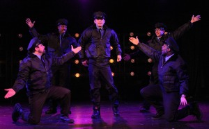The guys begin their big show, promising to go the full monty. Photo: Jessie Dobrzynski