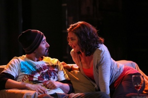 Vaneik Echeverria and Dina Ann Comolli in 'The Motherf**ker with the Hat' by Stephen Adly Guirgis. Photo: Ed Dittenhoefer