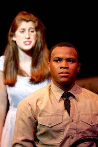 Carly Blane (as Violet) and Malcolm Yancey (as Flick) in the SU Drama production of 'Violet.' Photo: Michael Davis