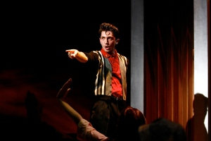 Christian Palmer as the longed after Preacher. Photo: Michael Davis