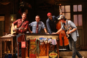 The Pump Boys (from left to right): Johnny Kinnaird, Jonathan Spivey, Nathan Dame and Travis Artz. Photo by: Ken Huth