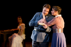 Carmen (Ola Rafalo), Don José (John Reiley) and Micaëla.