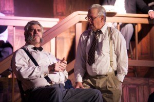 Drummond (Tom Minion) examines a potential juror in CNYP's Inherit the Wind  Photo by Amelia Beamish