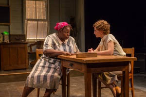 Lisa Gaye Dixon and Emily Dorsch in the Kitchen Theatre production of Black Pearl Sings! by Frank Higgins. Photo by Dave Burbank
