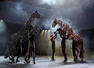 """The """"War Horse"""" and their majestic and intricate stage puppets."""