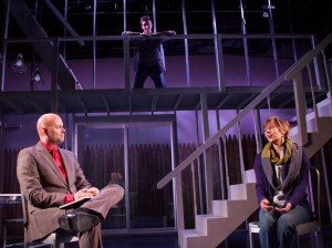 "Jason Timothy, Ian Jordan Subsara and Laura Austin in the Redhouse's production of ""Next to Normal"" (Photo by Jessie Dobrzynski)"