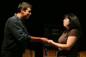 """Faudree and Rougeux in """"The Guys"""" at CNY Playhouse."""