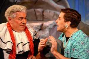 """Steve Hayes as Wendell and John Bixler as Royale in """"The Penguin Tango.""""  Photo credit: Keirsten Burrows"""