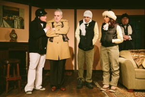 """The cast of """"God's Favorite"""" at CNY Playhouse. Photo by Amelia Beamish."""