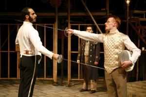 Alen Ghavami and Ezekiel Edmonds in the SU Drama production of William Shakespeare's Measure for Measure. Photo by Michael Davis.
