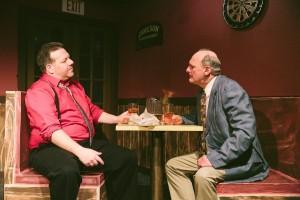 "JIm Uva and Keith Arlington in ""Glengarry Glen Ross"" at CNY Playhouse. Photo by Amelia Beamish."