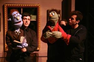 Stephen Gordon (Rod) and Cole Francum (Nicky) in SU Drama's AVENUE Q. Photo by Michael Davis