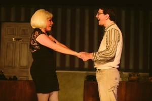 Korrie Taylor (Audrey) and Justin Polly (Seymour) perform in